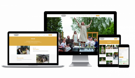 Oravais Teater web design in different screen sizes